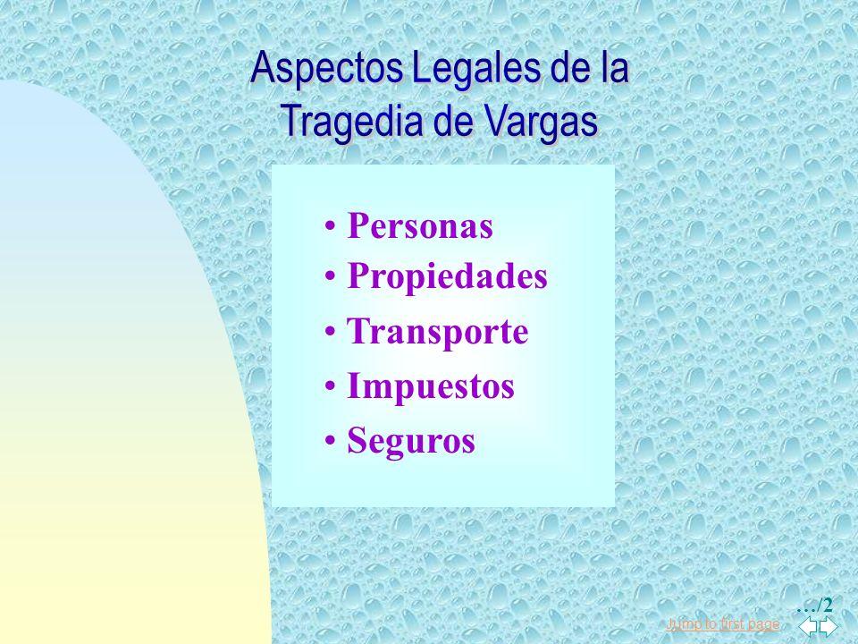 Aspectos Legales de la Tragedia de Vargas Personas Propiedades