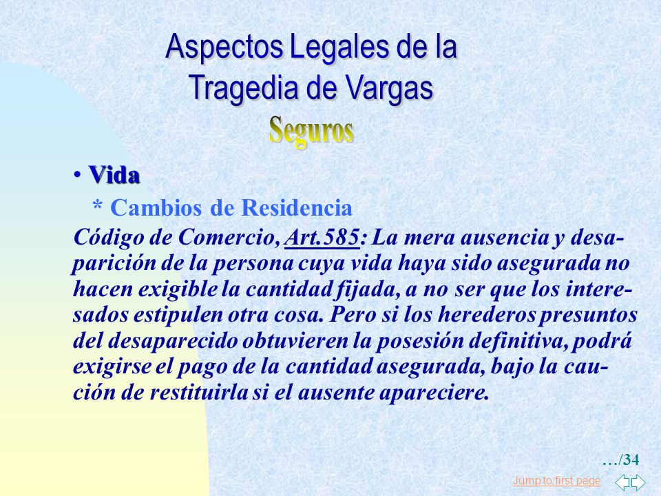 Aspectos Legales de la Tragedia de Vargas Seguros Vida