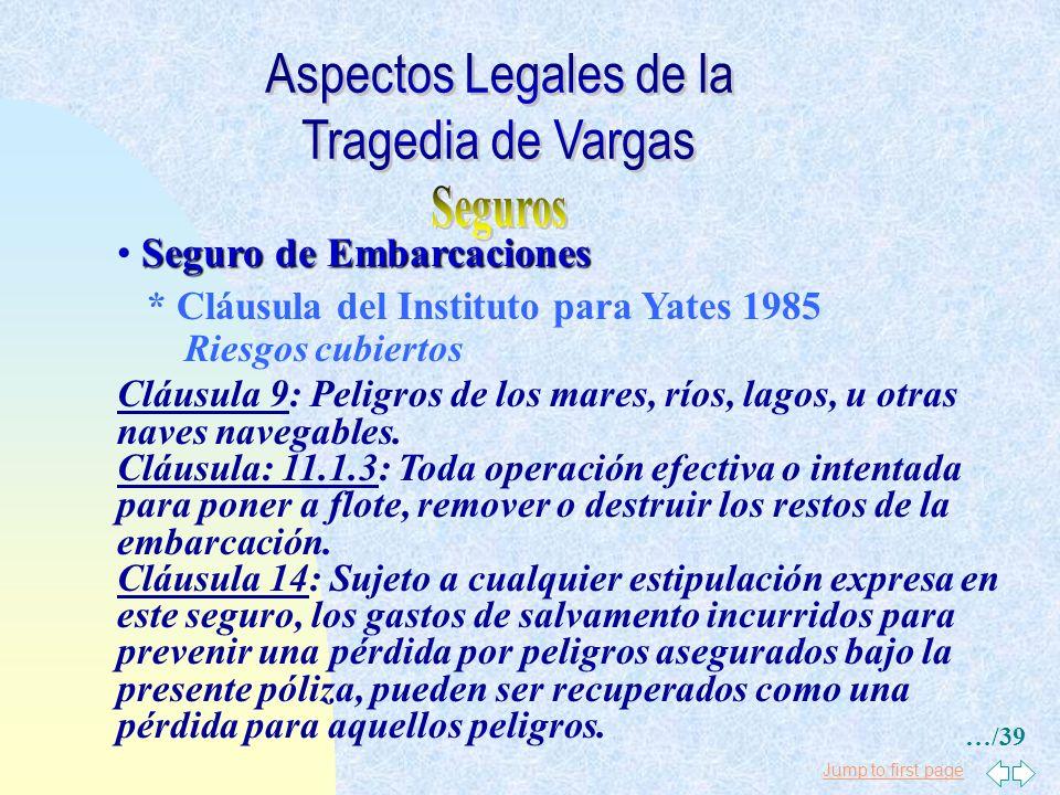 Aspectos Legales de la Tragedia de Vargas Seguros