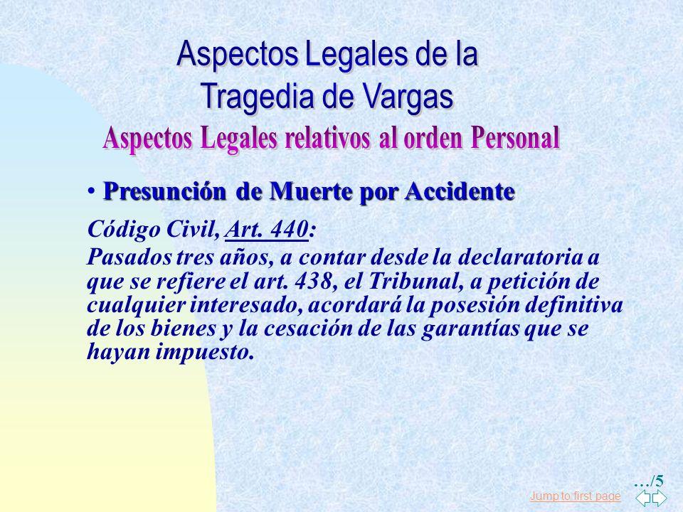 Aspectos Legales relativos al orden Personal
