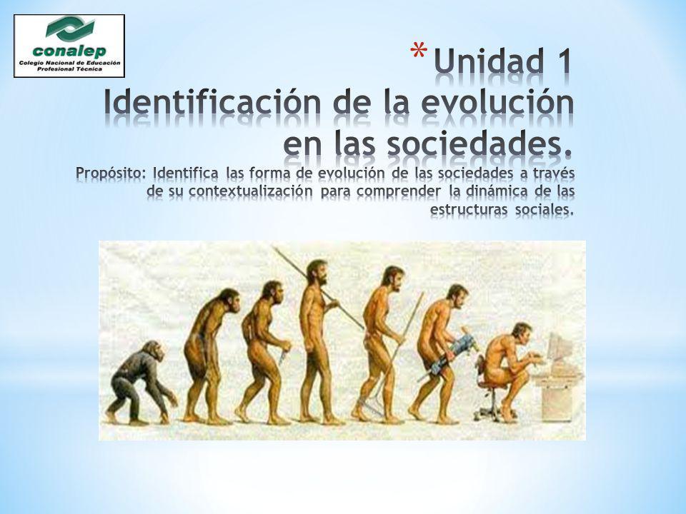 Unidad 1 Identificación de la evolución en las sociedades