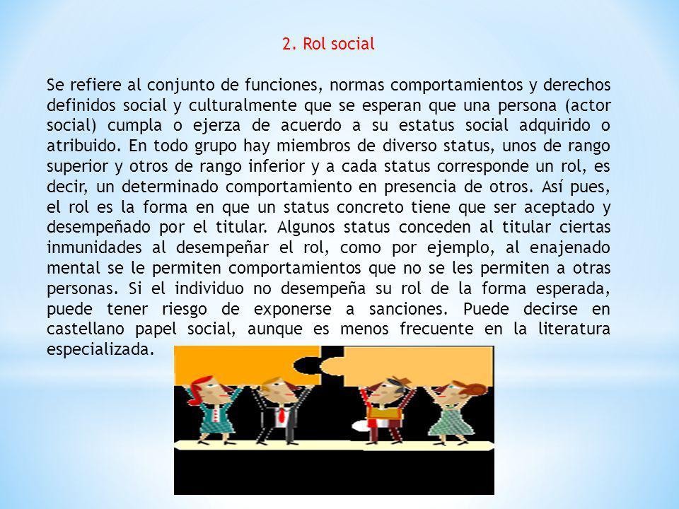 2. Rol social