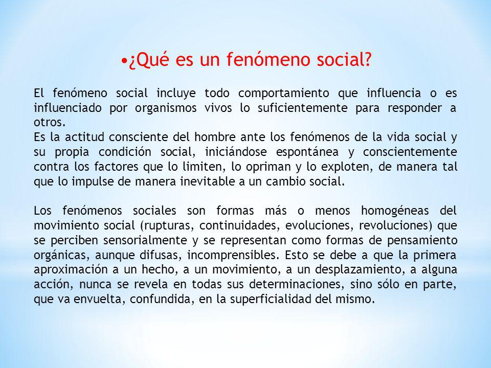 •¿Qué es un fenómeno social
