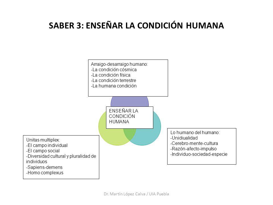 SABER 3: ENSEÑAR LA CONDICIÓN HUMANA