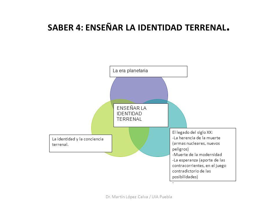 SABER 4: ENSEÑAR LA IDENTIDAD TERRENAL.