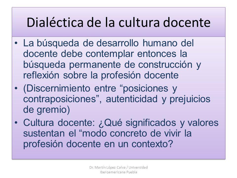 Dialéctica de la cultura docente