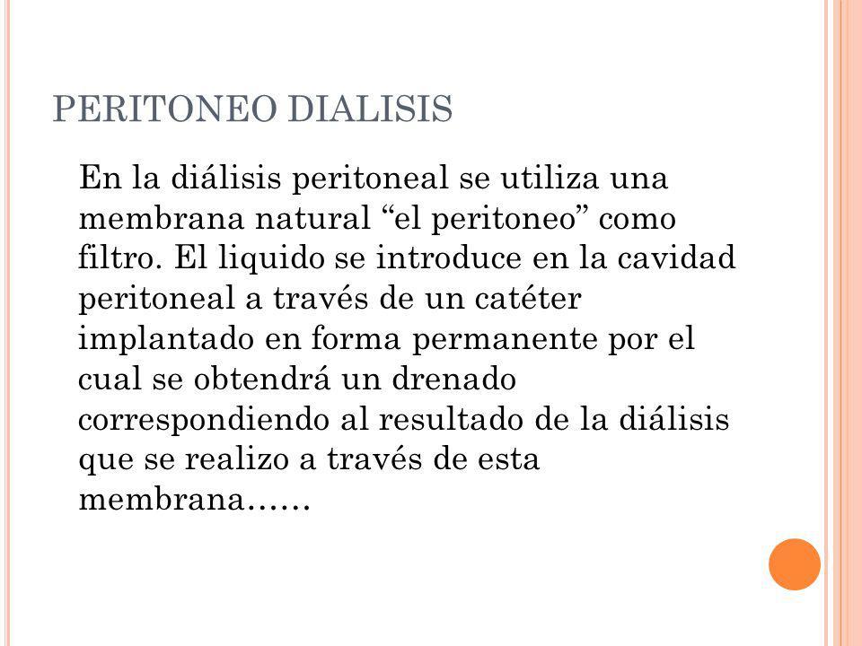 PERITONEO DIALISIS