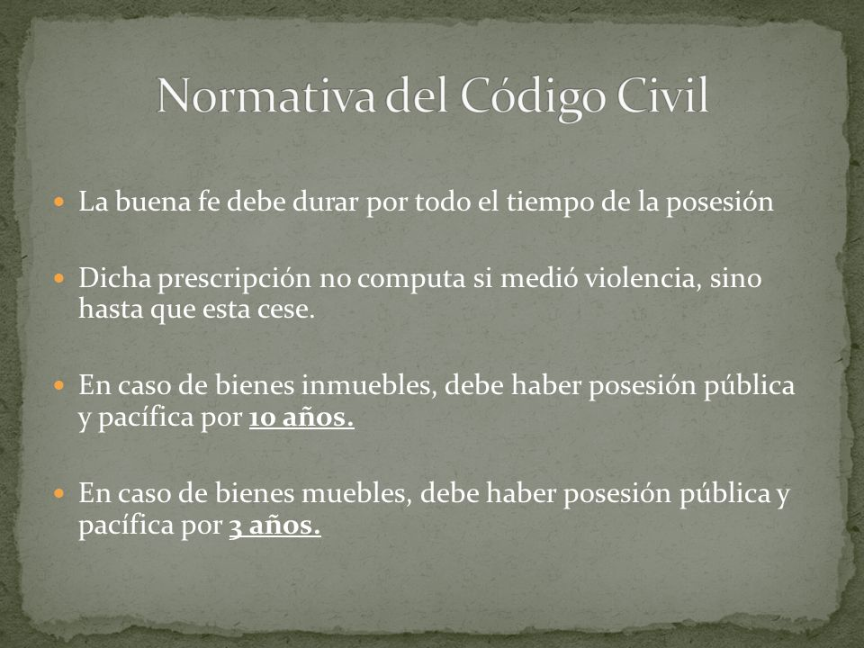Normativa del Código Civil