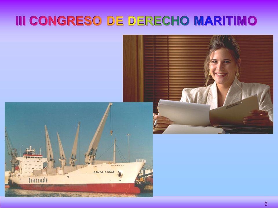III CONGRESO DE DERECHO MARITIMO