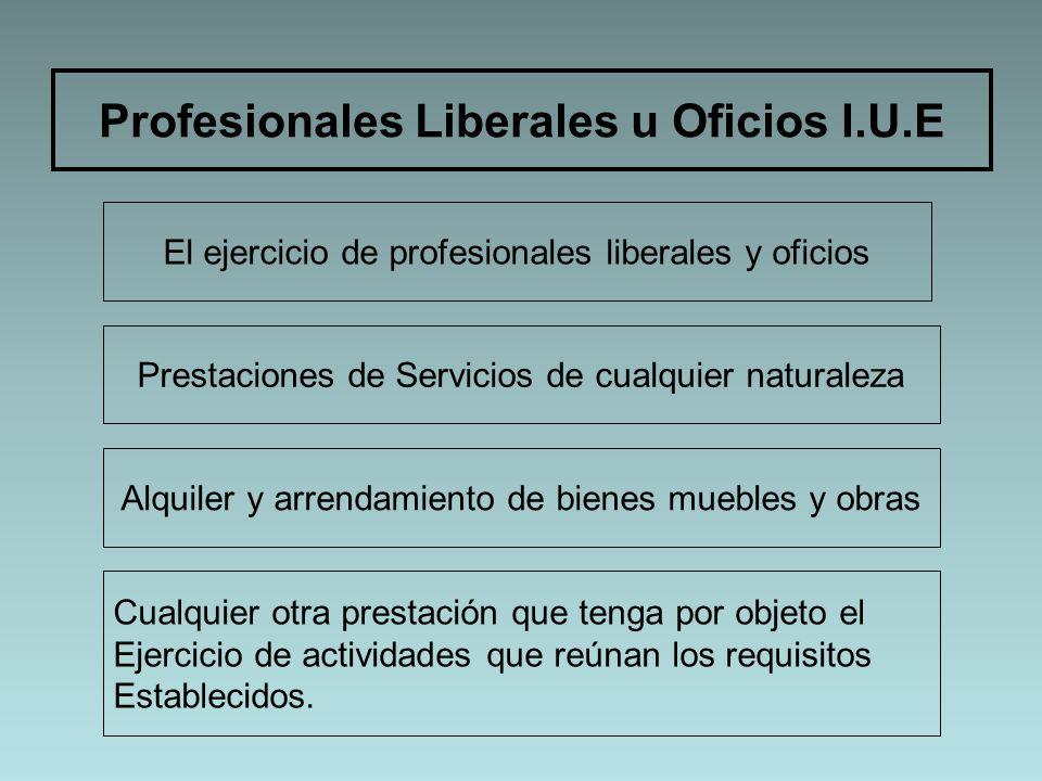 Profesionales Liberales u Oficios I.U.E