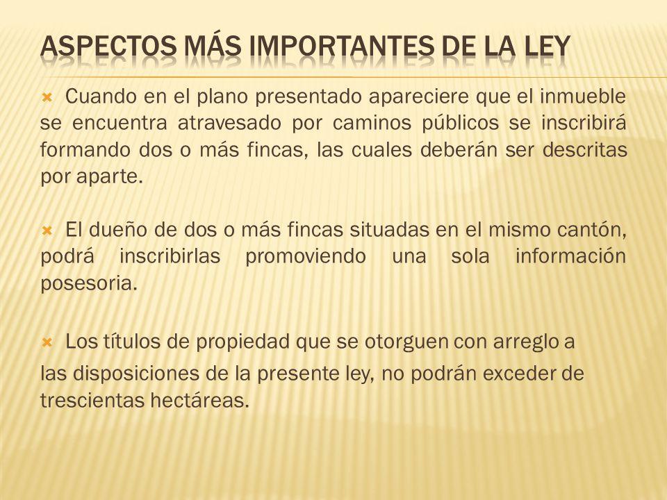 ASPECTOS MÁS IMPORTANTES DE LA LEY