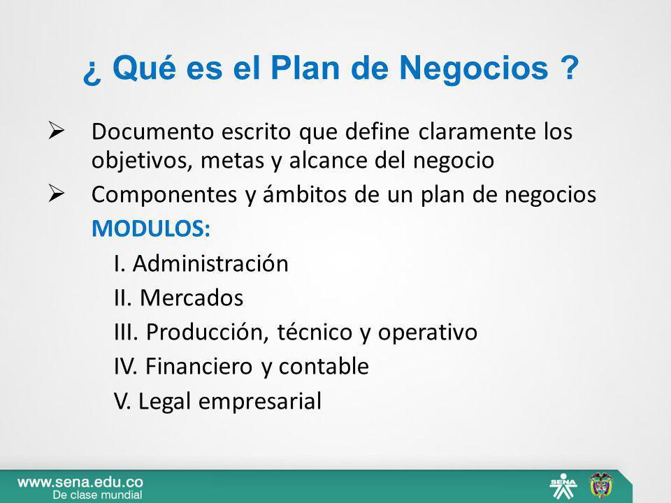 ¿ Qué es el Plan de Negocios