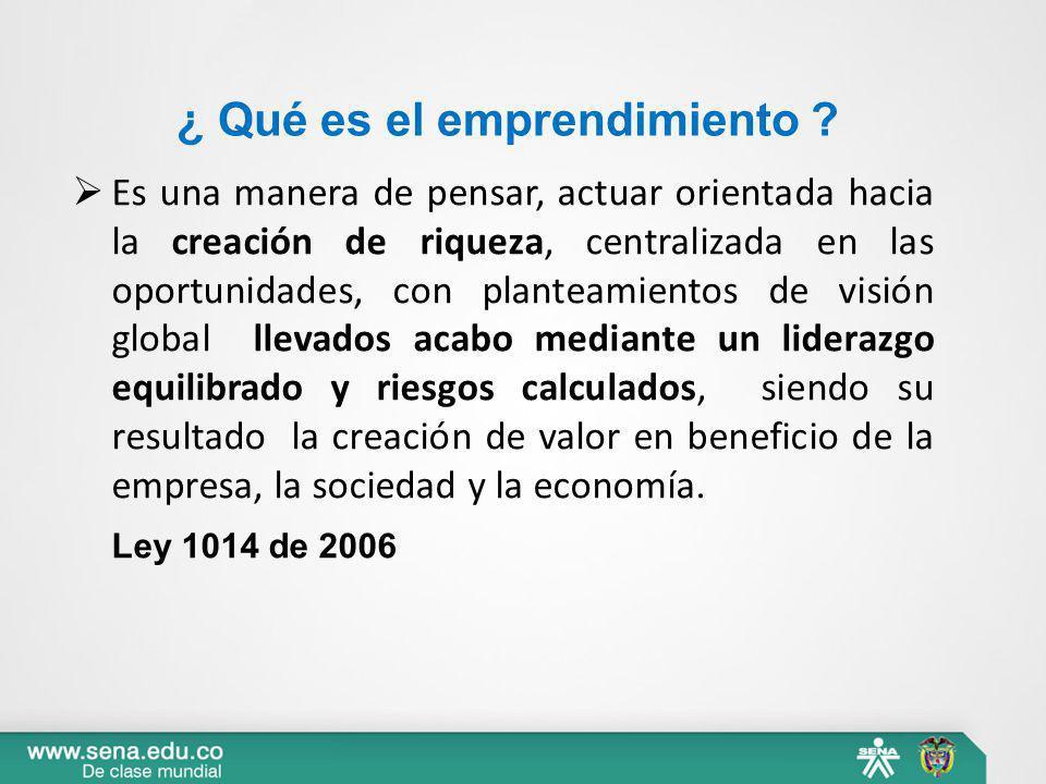 ¿ Qué es el emprendimiento