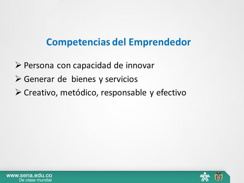 Competencias del Emprendedor