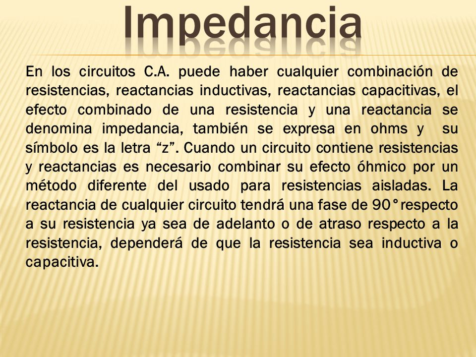 Impedancia