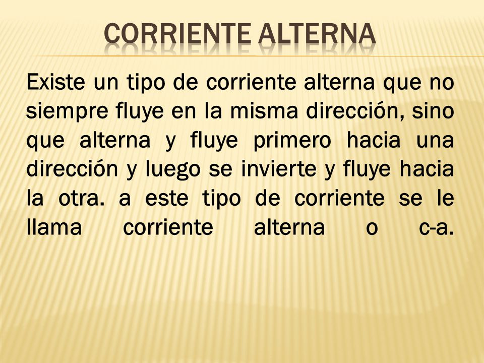 CORRIENTE ALTERNA