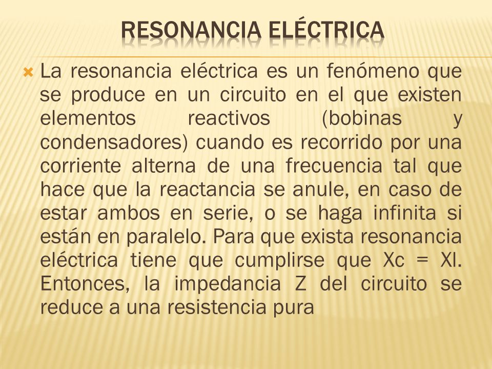 Resonancia eléctrica