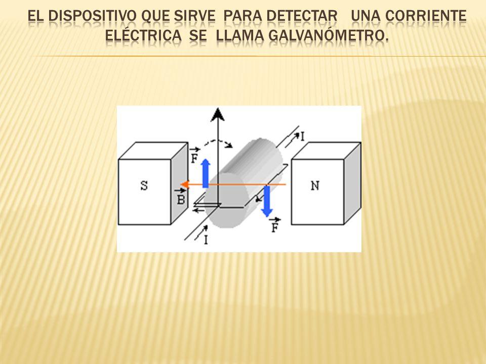 El dispositivo que sirve para detectar una corriente eléctrica se llama galvanómetro.