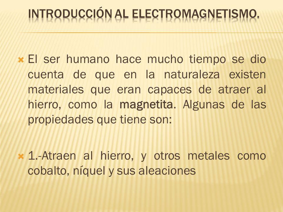 Introducción al electromagnetismo.