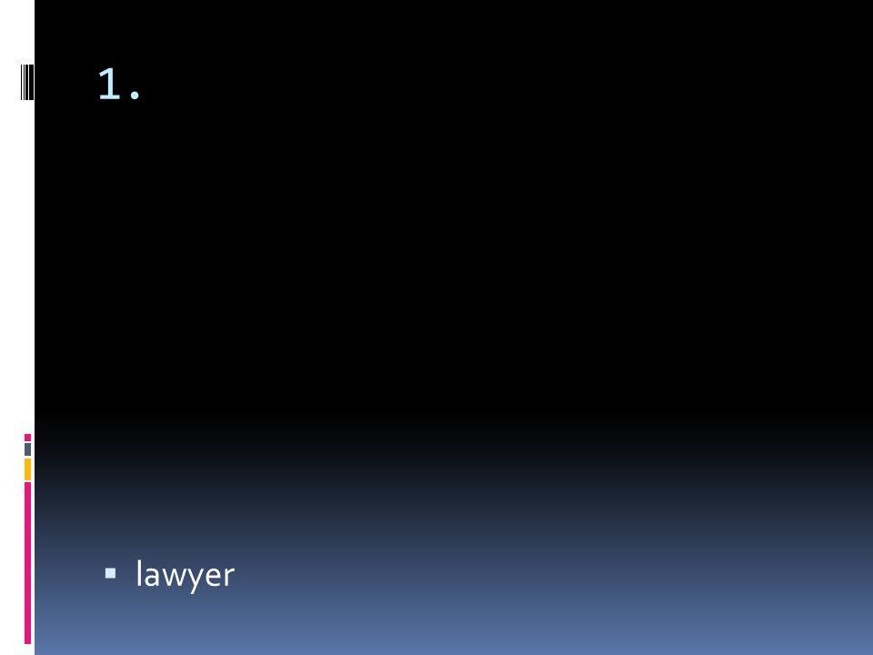 1. lawyer