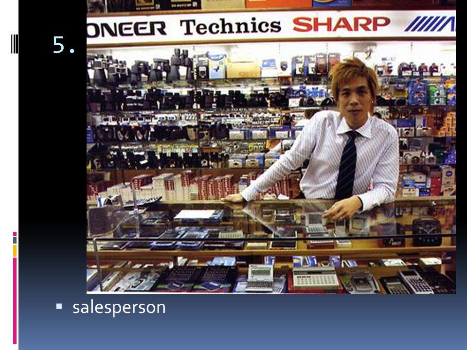 5. salesperson