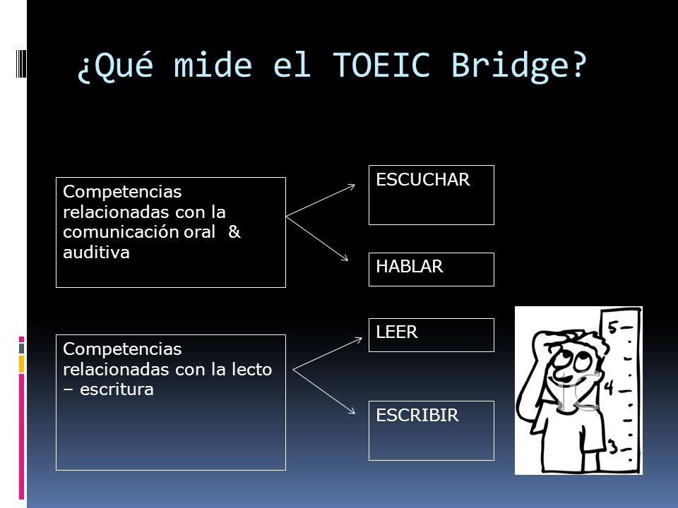 ¿Qué mide el TOEIC Bridge