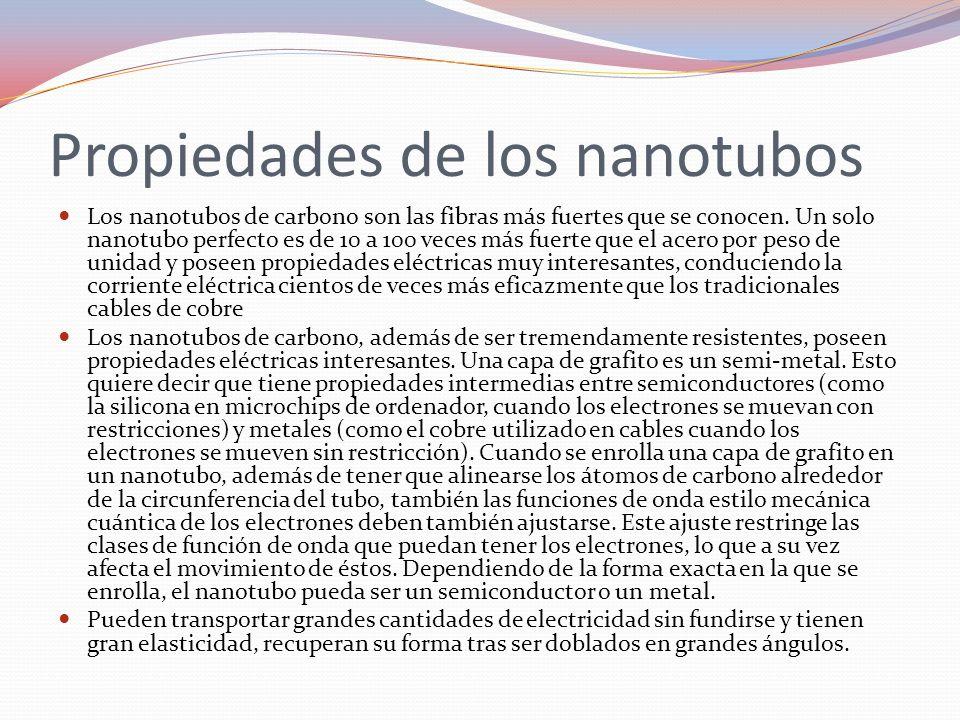 Propiedades de los nanotubos