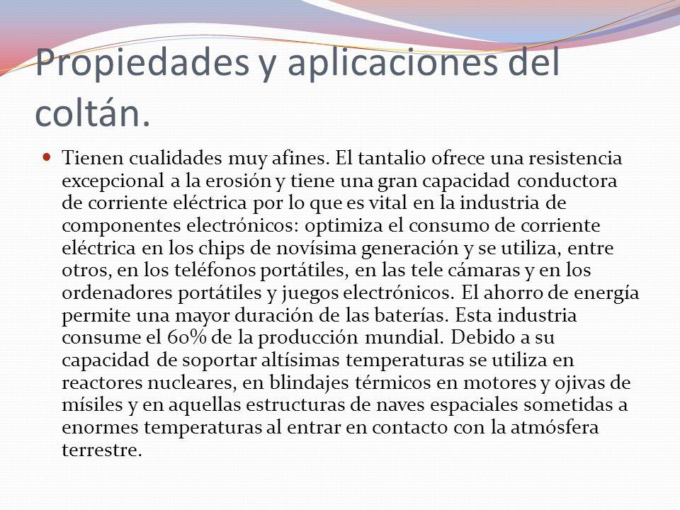 Propiedades y aplicaciones del coltán.