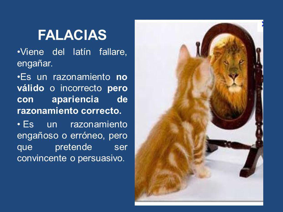 FALACIAS Viene del latín fallare, engañar.