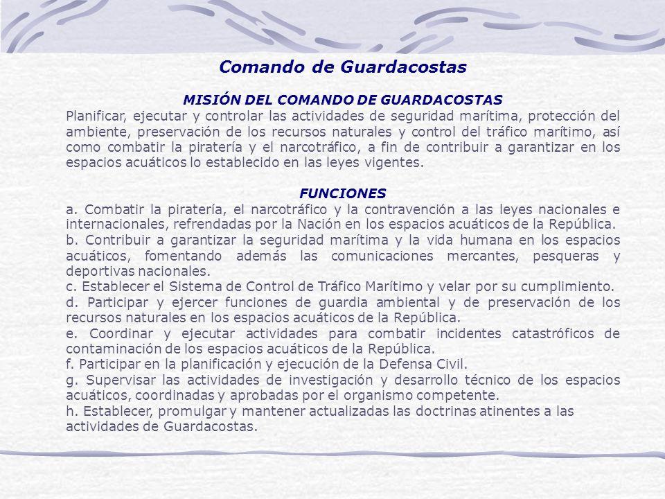 Comando de Guardacostas MISIÓN DEL COMANDO DE GUARDACOSTAS