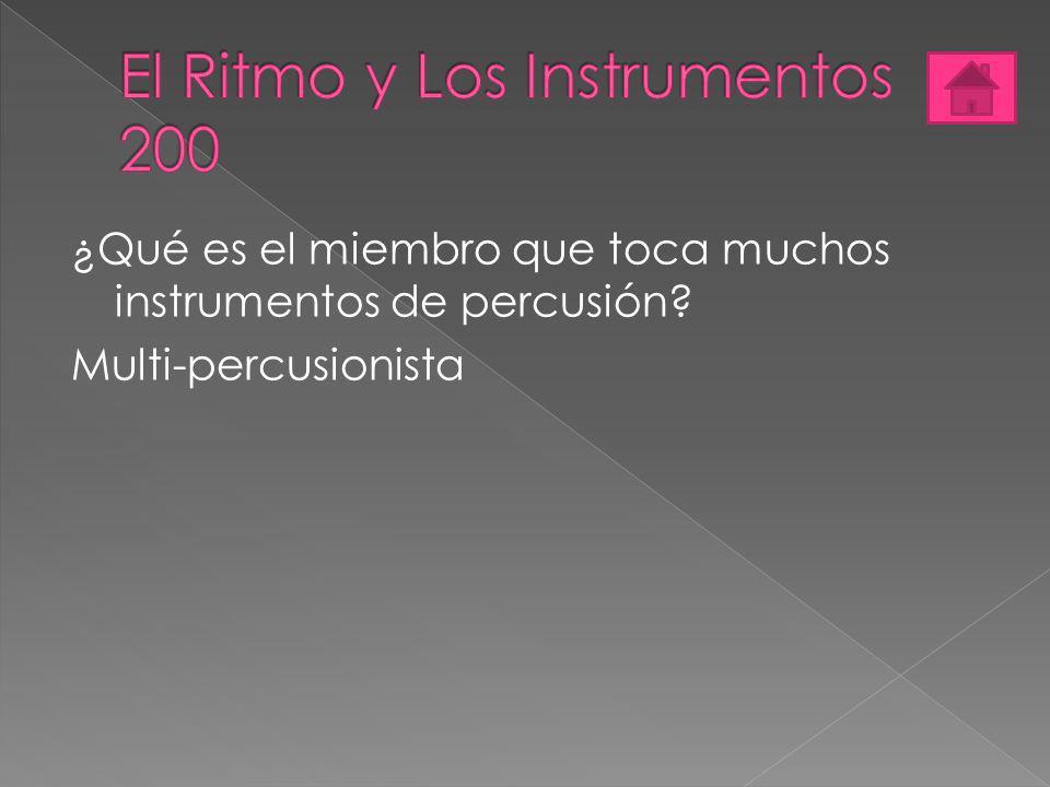El Ritmo y Los Instrumentos 200