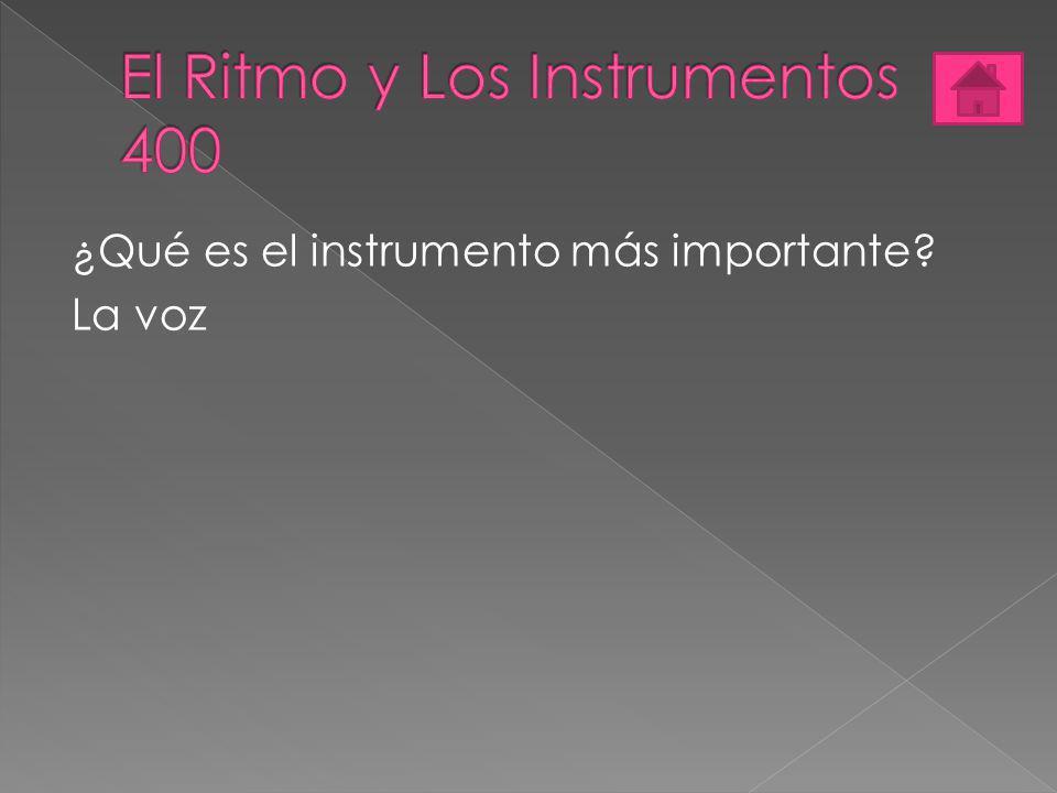El Ritmo y Los Instrumentos 400