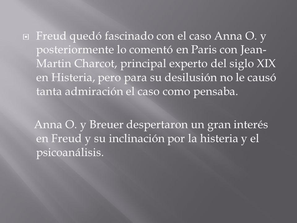 Freud quedó fascinado con el caso Anna O