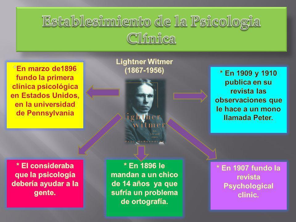 Establesimiento de la Psicologia Clínica