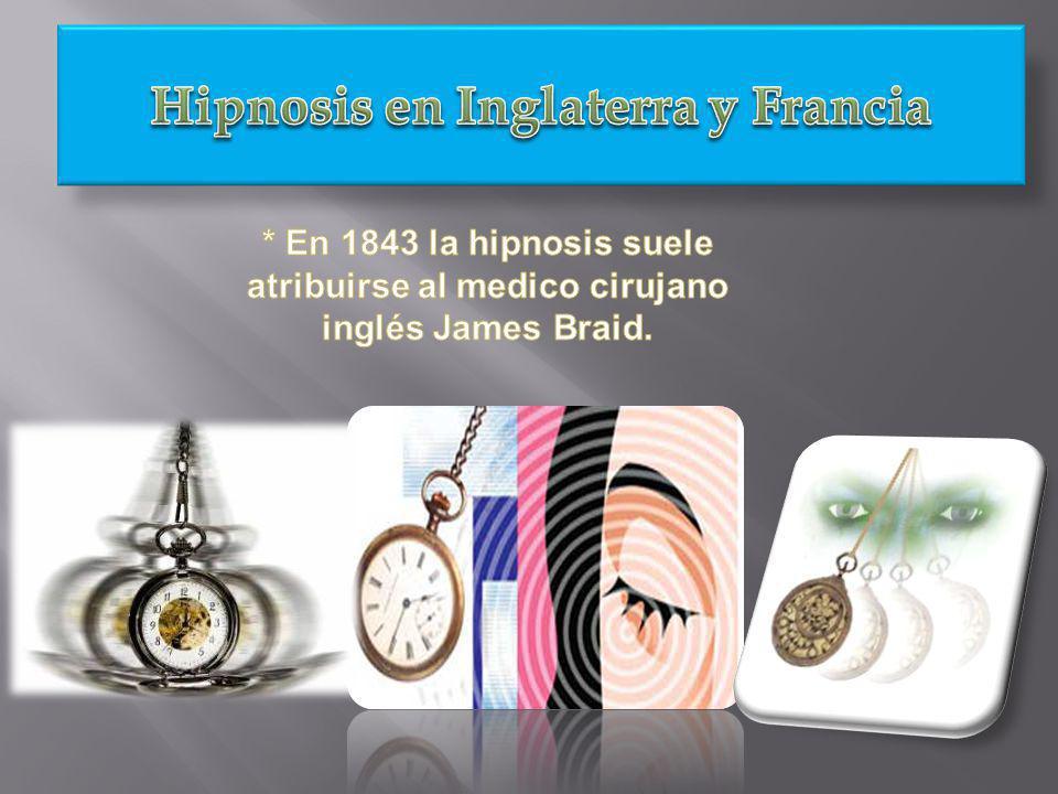Hipnosis en Inglaterra y Francia