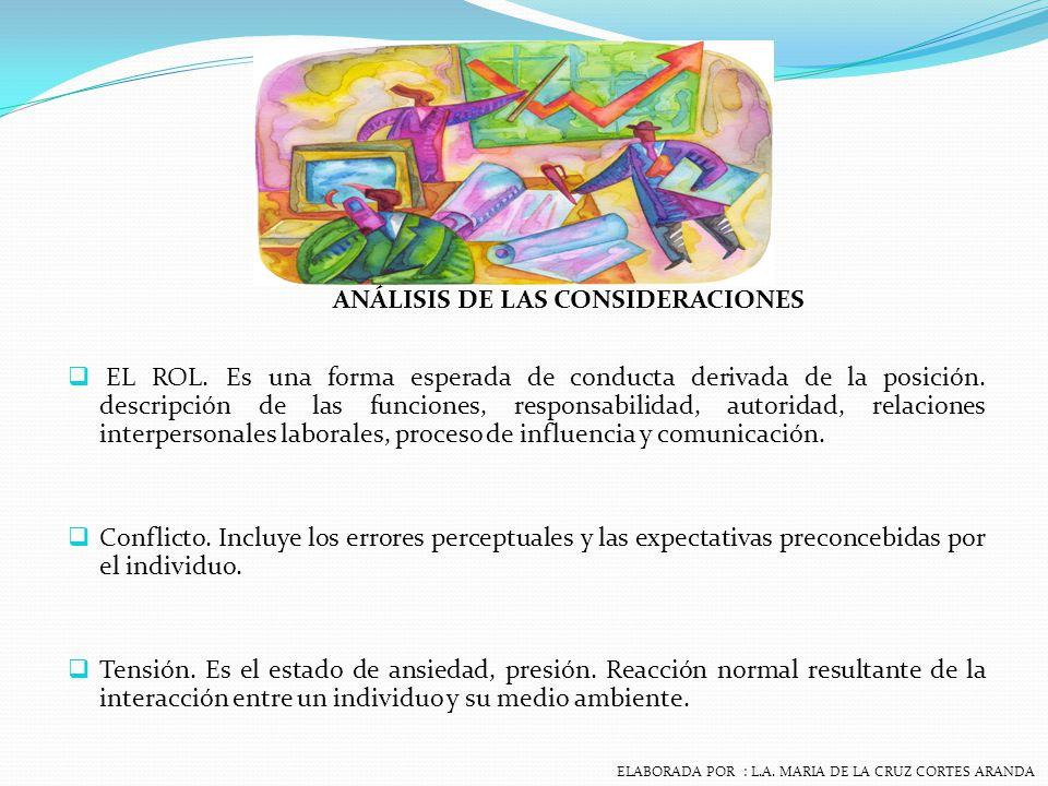 ANÁLISIS DE LAS CONSIDERACIONES