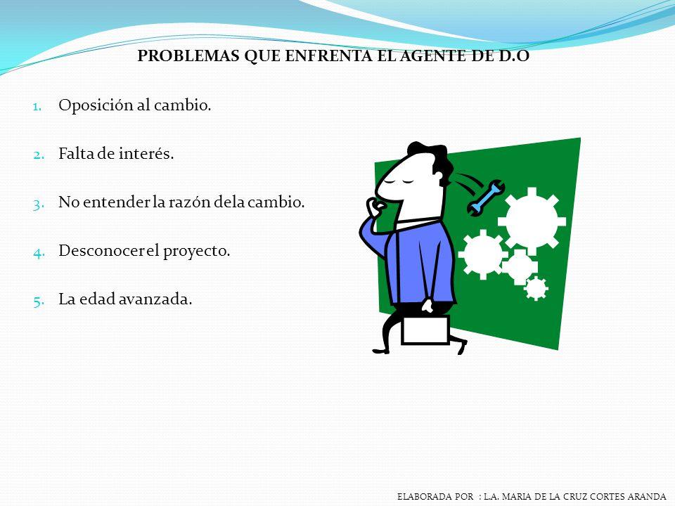 PROBLEMAS QUE ENFRENTA EL AGENTE DE D.O