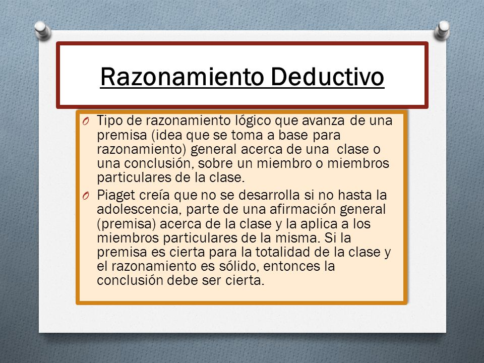 Razonamiento Deductivo