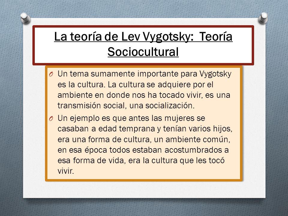 La teoría de Lev Vygotsky: Teoría Sociocultural