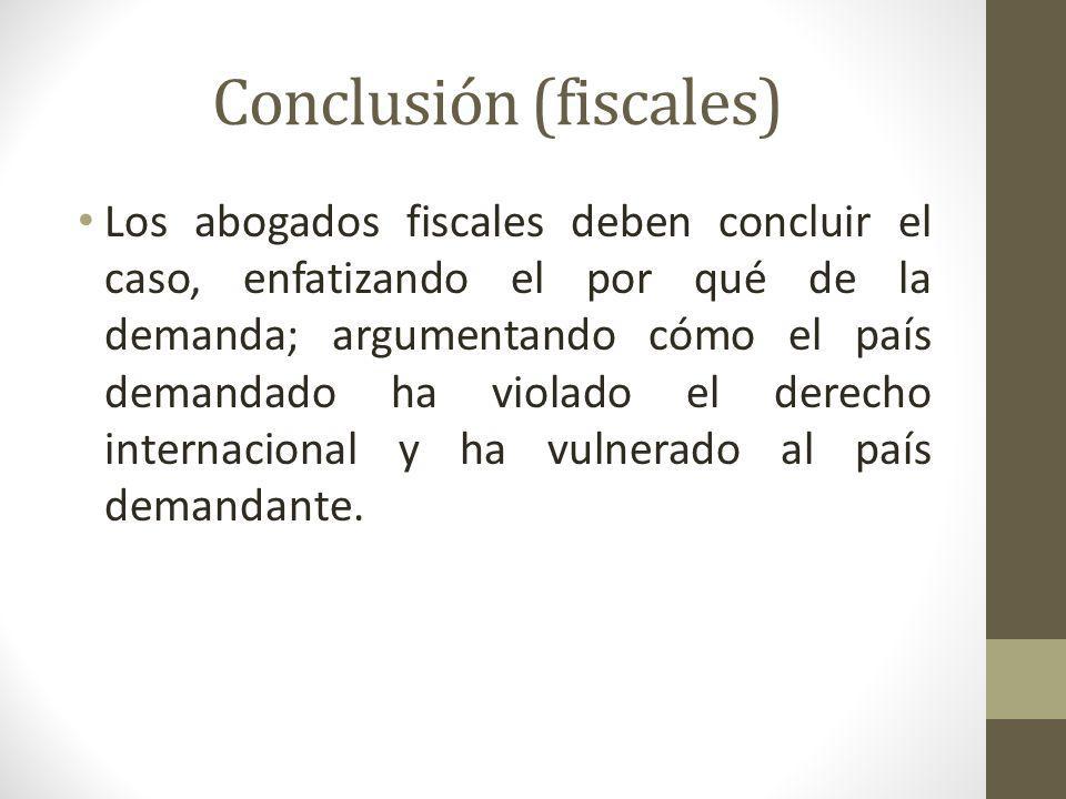 Conclusión (fiscales)