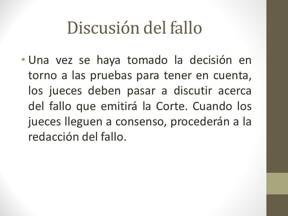 Discusión del fallo