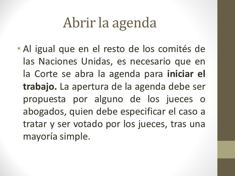 Abrir la agenda