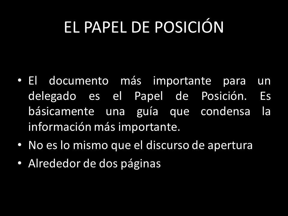 EL PAPEL DE POSICIÓN