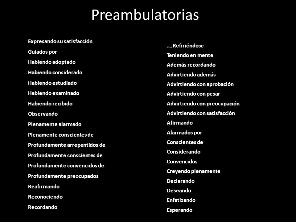 Preambulatorias