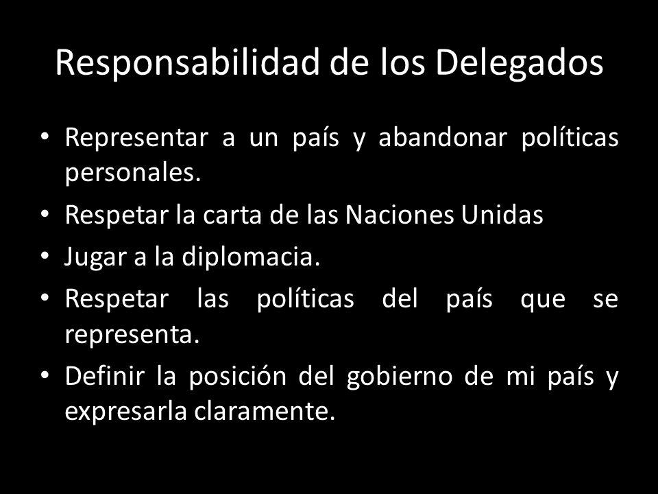 Responsabilidad de los Delegados