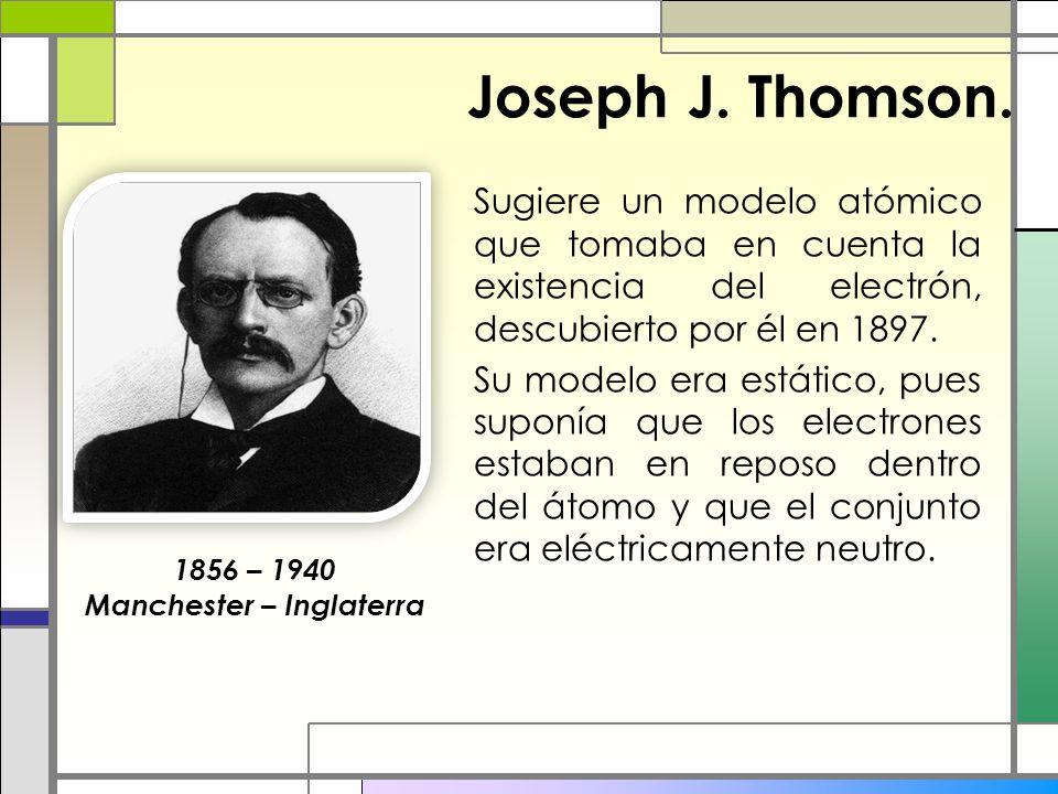 Joseph J. Thomson.