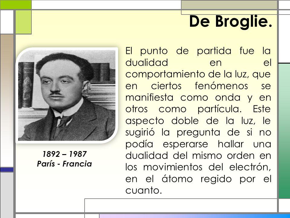 De Broglie.