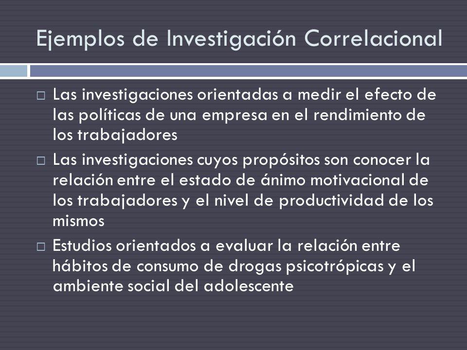Ejemplos de Investigación Correlacional