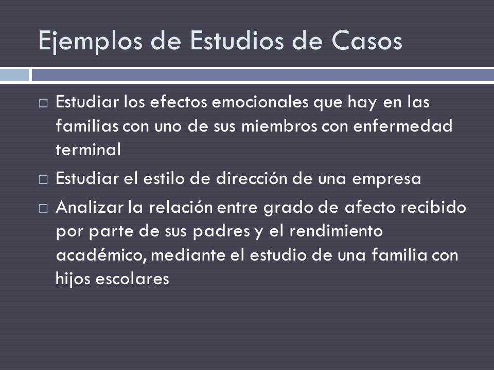 Ejemplos de Estudios de Casos
