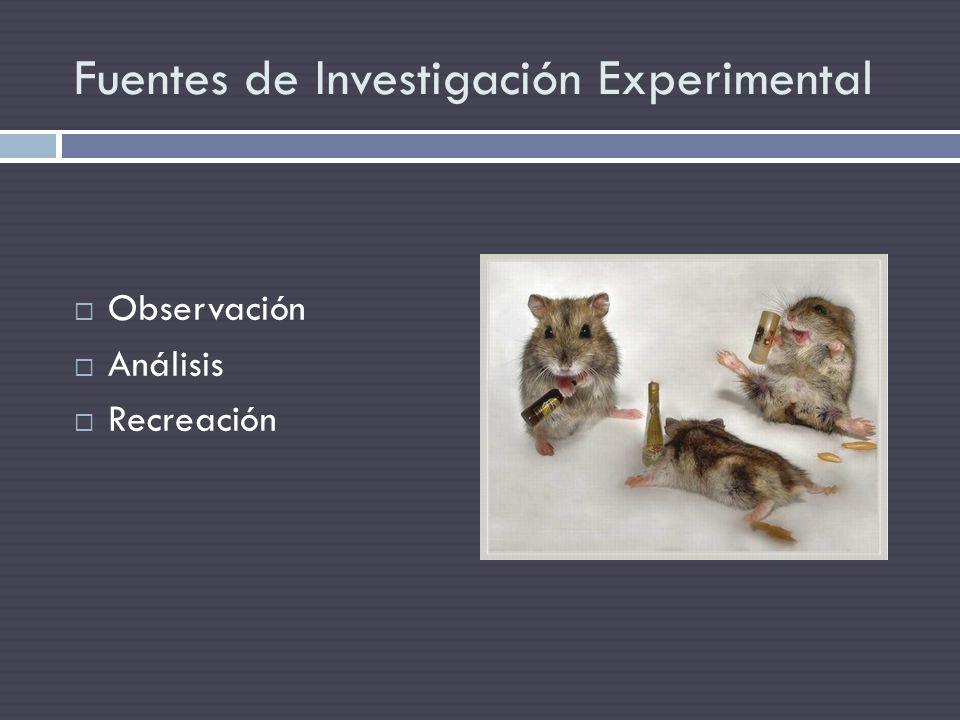 Fuentes de Investigación Experimental